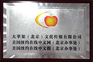 大苹果(北京)文化传媒公司成立