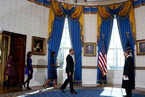 奥巴马宣誓就职连任总统/组图