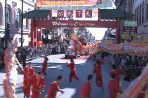 [视频]芝加哥中国城蛇年春节游行