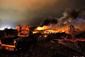 美德州化肥厂爆炸