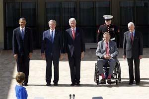 布希图书馆落成 5总统相聚