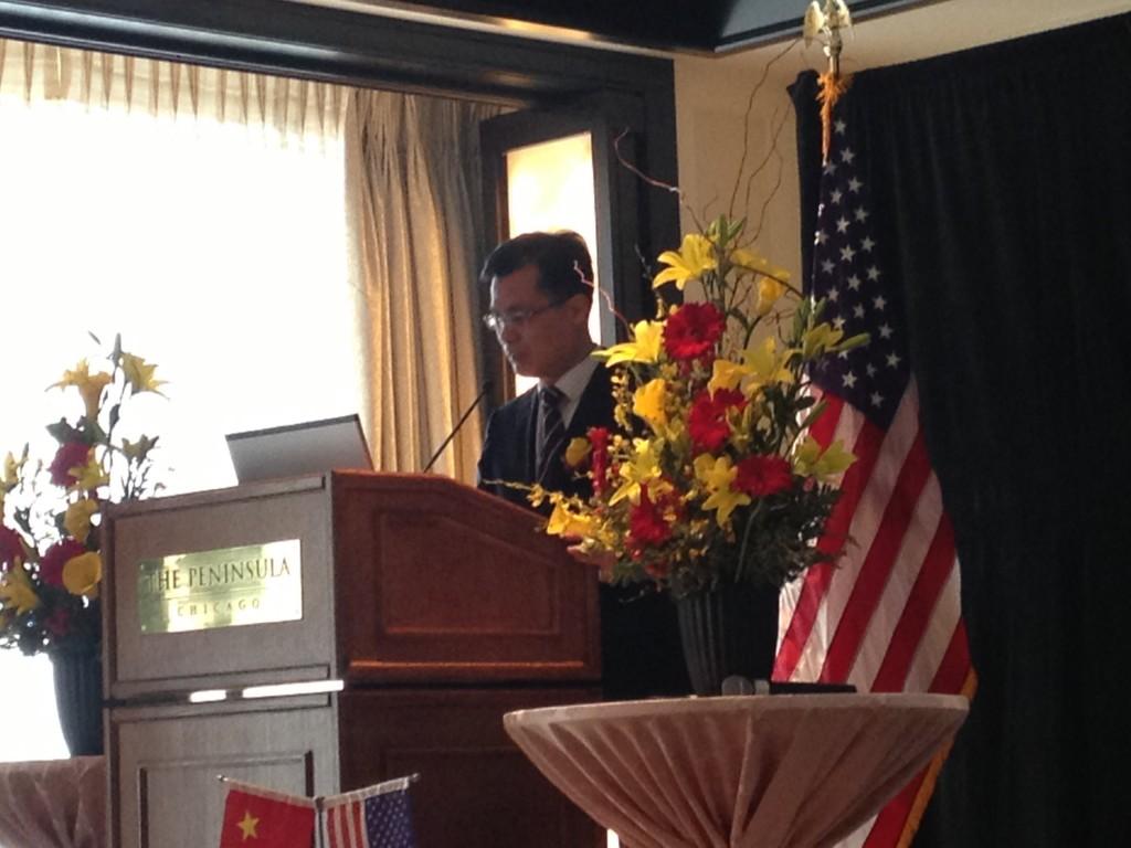 中国驻芝加哥总领事赵卫平致辞