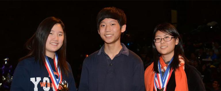 伊州学术十项全能比赛华裔学生囊括个人总分前三名