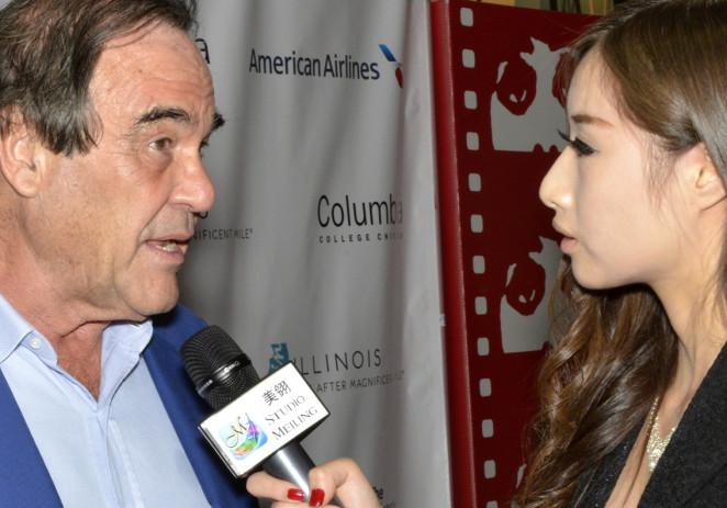金美翎专访好莱坞导演奥利弗斯通-:我为自己国家感到难过