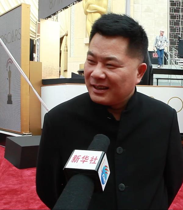 2015-2-27 施建祥  在参加电影节期间接受采访
