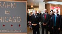 芝加哥伊曼纽市长在南华埠拜票希望華人支持