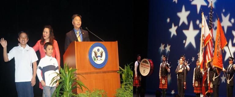 华裔联邦众议员刘云平宣誓就职