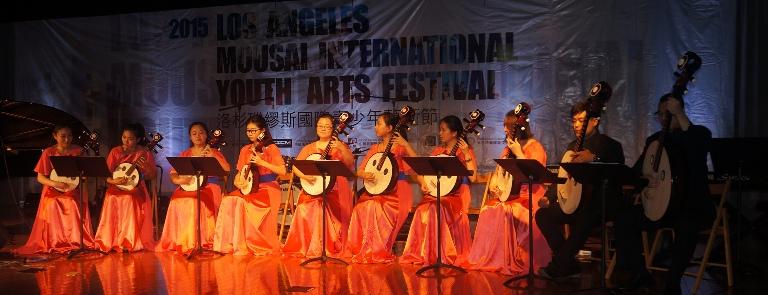 2015-7-26 中国阮咸乐团在开幕式上表演
