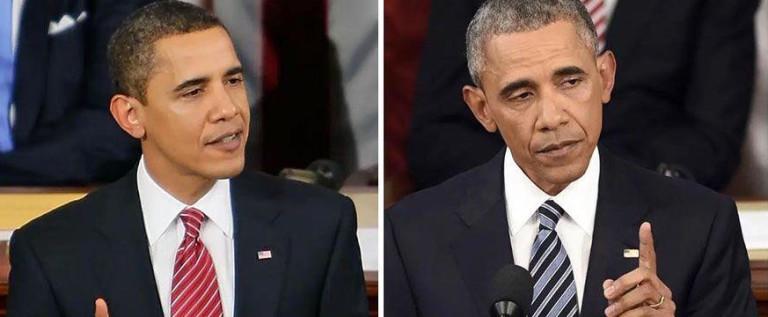 感觉身体被掏空 美国总统任期前后对比照显苍老