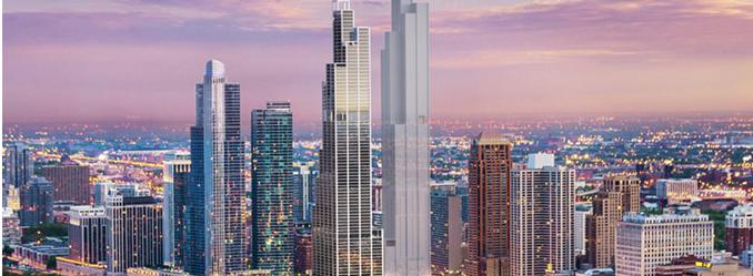 芝加哥最美天际线: 四年后新增五栋摩天楼