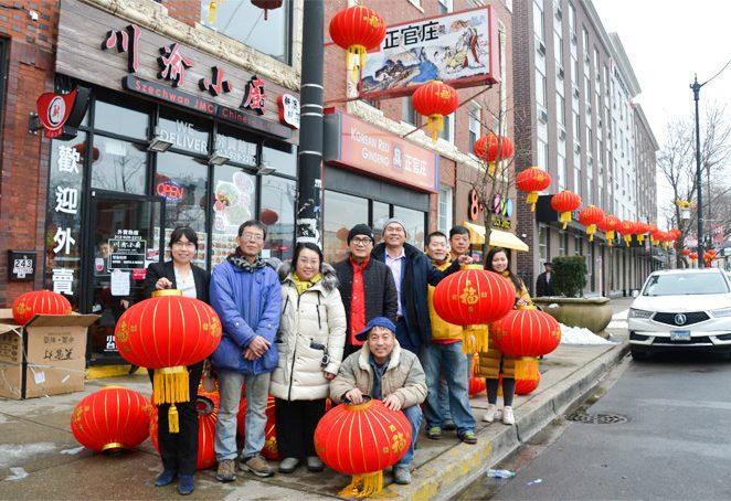 大红灯笼高挂,芝加哥中国城年味浓