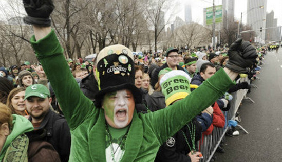 [视频]芝加哥庆祝Saint Patrick's Day