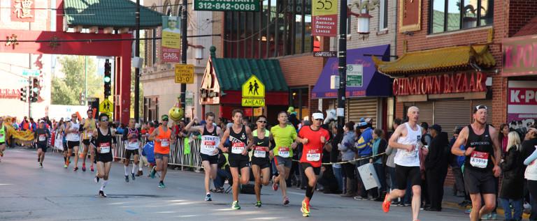 2014 Chicago Marathon 芝加哥马拉松中国城站掠影